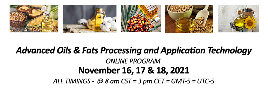 Smart Short Courses: Advanced Oils & Fats Processing and Application Technology